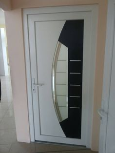 Black & white fits perfectly #pvc #door #frontdoor #vrata #pvcvrata Beautiful Front Doors, Black And White, Modern, Home Decor, Trendy Tree, Decoration Home, Room Decor, Black White, Black N White