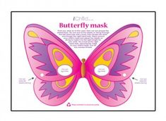 This pink butterfly mask template will keep your kids entertained for hours, and is a great child activity! Please ensure ALL cutting out is performed with an adult!