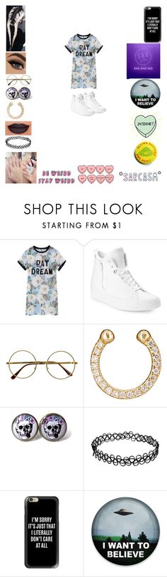 """Untitled #661"" by weirdgirl7204 ❤ liked on Polyvore featuring Converse, Retrò, Ileana Makri, cutekawaii, Anastasia Beverly Hills, Casetify and Garcia"