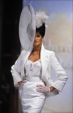 Supermodel Yasmeen Ghauri for Christian Dior S/S 1993