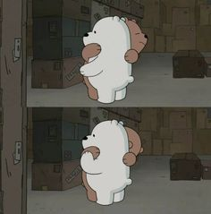 Grizz: I miss u guys🐻 Bear Wallpaper, Kawaii Wallpaper, Cartoon Wallpaper, Bear Cartoon, Cartoon Memes, Cute Cartoon, Cartoons, Ice Bear We Bare Bears, We Bear