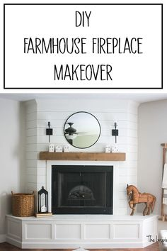 DIY Fireplace Makeover – The Inspired Workshop