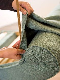 Easy upholstery... more tips to helping the dream of a wingback chair come to fruition
