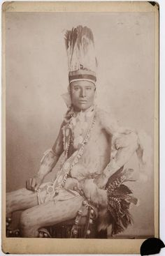 Indian Pictures: Arapaho Indian Ceremonial Clothing and Dancer With Body Paint Taken in 1890