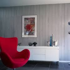 Paneling in wood or PVC, a decorative wall-top trend Decor, Furniture, Wood, Lounge Chair, Wall Decor, Home Decor, Paneling, Wall Coverings, Furniture Design