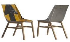 Road sign chairs - great project if signs are available.
