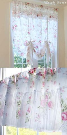 Decorate your window with this lovely White Romance Pull Up Curtain. Lovely-Decor.com #rose #ballooncurtain #shabbychicdecor #shabbychic #shabbychicstyle #shabbychicbedroom #bedroom #farmhouse #cottage #vintage #lace Tie Up Curtains, Balloon Curtains, Panel Curtains, Shabby Chic Homes, Shabby Chic Style, Shabby Chic Decor, Shabby Bedroom, Bedroom Decor, Sofa Throw Cover