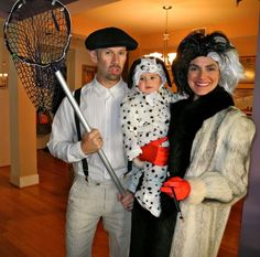 cruella de vil and spot from 101 dalmatians halloween couples costume - Baby And Family Halloween Costumes