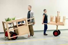 Design and architecture studio creates a portable kitchen and dining experience.