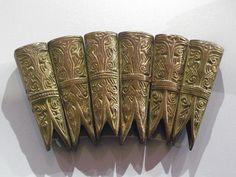 Viking Pendants | Pendants of gilt copper alloy 900-1000.  From Gotland, Sweden.  Ashmolean Museum