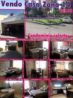 Vendo Casa Zona 14 Condominio selecto 3 Dormitorios 2.5 Baños 2 Parqueos Pergola, balcon, sala familiar, cocina granito, pantry y mas. Totalmente remodelada con acabados de primera. Condominio con garita, pared perimetral y parque propio con areas verdes e infantiles. Venta $250,000 Visitas 53002536 42221612 51844109 anaurrutia@live.com www.inmueblesonlinegt.tk en Facebook Bienes Inmuebles GT Contamos con gran inventario de casa en directo para nuestros clientes!