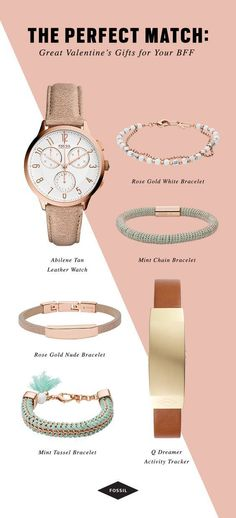 Montre pour femme : The perfect (Pal)entines Day gifts: rose-gold watches bracelets and more Fos