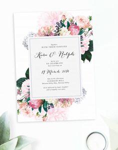 Floral Wedding Invitations Australia Sail and Swan vintage botanical bespoke custom wedding stationery protea native berries