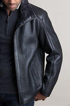 1506bf7da7b Overland Sheepskin Co Lance Spanish Sheepskin Jacket at Amazon Men s  Clothing store