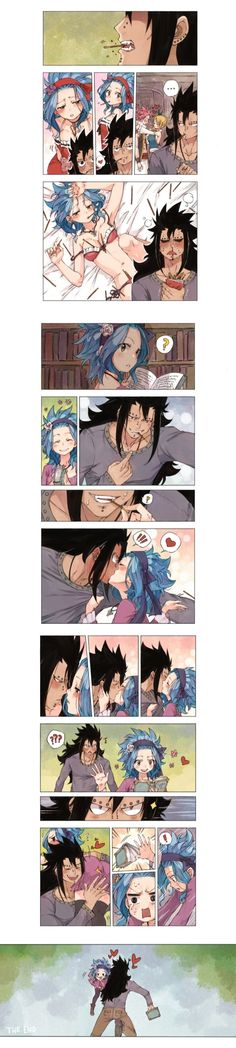 Gale Fairy Tail, Fairy Tail Ships, Fairy Tail Anime, Fairy Tail Couples, Fairy Girls, Gajeel E Levy, Pocky Game, Fairy Tail Comics, Gajevy