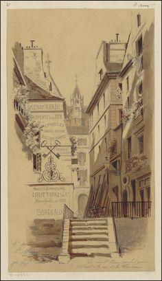 La rue St Bon, escalier qui conduit à la rue de la Verrerie - 3e Arrondissement (1891)   Flickr - Photo Sharing!