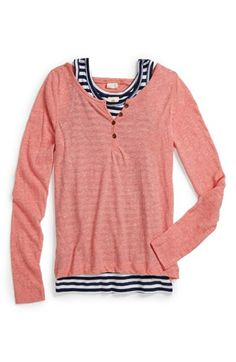 Tucker + Tate 'Darcy' Henley Top & Tank (Little Girls & Big Girls) available at #Nordstrom