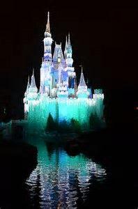 Image result for  Cinderella Castle at night