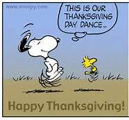 Snoopy Thanksgiving dance.
