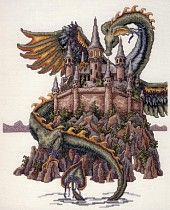 """The Castle"" by Teresa Wentzler - I love her cross stitch patterns. They are strictly for the expert and take weeks of patience and skill to complete but they are worth every second."