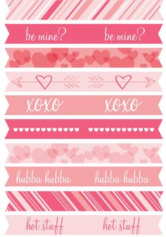 Get a set of free printable Valentine's Day Flags from Julie Ann Art. Use them as cupcake toppers, on tops of squiggle straws, lollipops or pencils for unique Valentine's Day exchange items