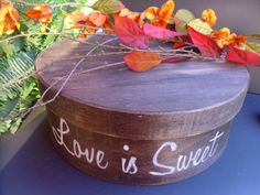 Rustic Wedding Round  Wood Cake Stand  Love by willowroaddesigns, $60.00