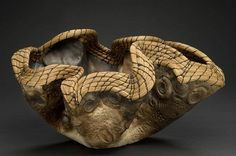 Valerie Seaberg, Ancient Wave , clay and pine needles