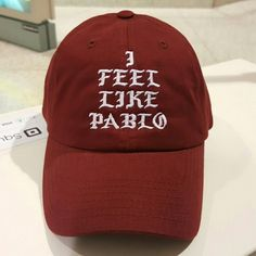 I feel like pablo hat New adjustable hat    *Quality embroidered design hats not cheap printed  *hats are new  *if posted  its still available  *Please do not comment unless ready to purchase  *hats are shipped next day if purchased before 7:30   *I do not control shipping speed so please do not rate on shipping speed * I'm a trusted seller buy with confidence Accessories Hats