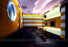karaoke box concept rendered by archivisionstudio