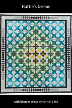 Hattie's Dream by Jean Nolte uses blender prints from Patrick Lose fabrics and is a GORGEOUS finished quilt. This bed-size quilt is available as a quilt kit while supplies last! Quilt Block Patterns, Pattern Blocks, Quilt Blocks, Quilting Ideas, Quilting Projects, Peacock Quilt, Quilt In A Day, Quilt Modern, Christmas Sewing