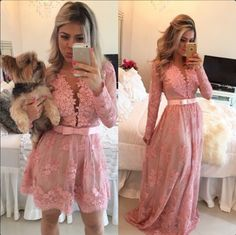 2015 Appliques and Lace Prom Dresses,Short/ Floor-Length Prom Dresses/Graduation dresses, The charming Prom Dresses, A-Line Prom Dresses, Evening Dresses,