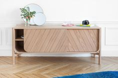Marius Sideboard is a beautifully designed piece of furniture that will fit in your office, bedroom or living room, made by French brand Harto. Cabinet Furniture, Wooden Furniture, Furniture Design, Outdoor Furniture, Plywood Furniture, Chair Design, Side Board, Deco Buffet, Low Sideboard