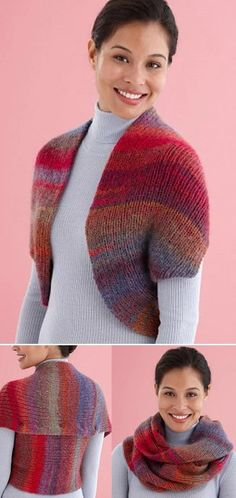 Free knitting pattern for Convertible Shrug Cowl
