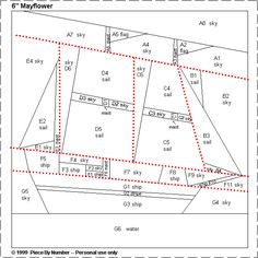 Mayflower Free Paper Piecing Quilt Block Pattern