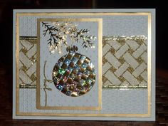 double use of ribbon weaving...sparkly Christmas oranamet and a lovely diagonal weave on the background strip...