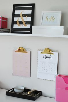Operation: Organization Amy's Organized {Kate Spade Inspired} Office Space | 11 Magnolia Lane