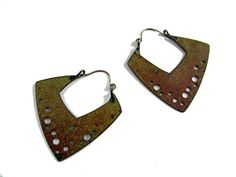 squared off large earrings by Tish Collins  ~  x