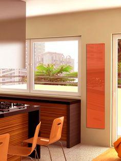 VERRE TREMPÉ - Ombre et lumière, jeux de reflets… Le verre trempé joue avec la luminosité ambiante et change d'aspect selon les angles - Dimension 40x100 cm ou 40x180 cm ou 50x200 - puissance de 450 W ou 800 W ou 1 200 W - à partir de 540 €