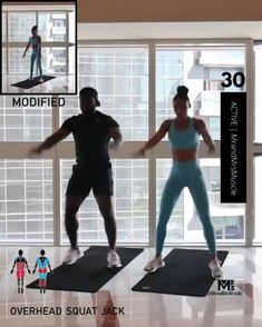 A full body HIIT workout — no equipment required Improve heart health, increase fat loss and strengthen and tone your muscles . Fitness Workouts, Hiit Workout Videos, Full Body Hiit Workout, Hiit Workout At Home, Gym Workout For Beginners, Gym Workout Tips, Fitness Workout For Women, Sport Fitness, Body Fitness