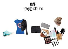 """R5 concert"" by dj2000noname ❤ liked on Polyvore featuring Barbour International, TWINTIP, Converse, New Look, Calvin Klein, Smashbox, Marc Jacobs, Giorgio Armani and MAC Cosmetics"
