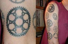 Visit the post for more. Gear Tattoo, Bike Tattoos, I Tattoo, Cool Tattoos, Tatoos, Cycling Tattoo, Bicycle Tattoo, Wheel Tattoo, Tattoo Project