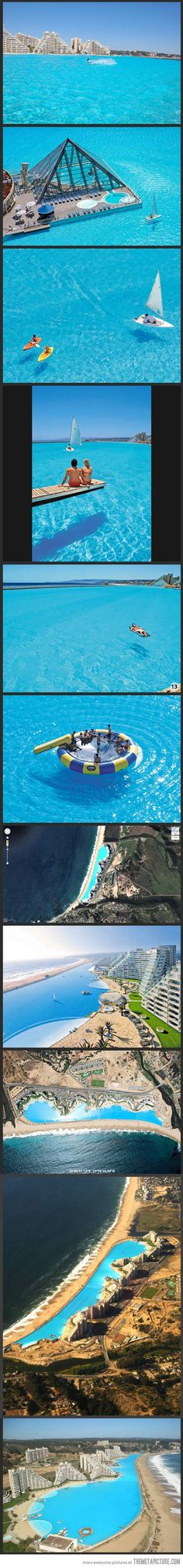 The Largest Swimming Pool in the World… Going there one day!!!!