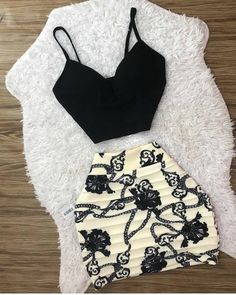 Trendy Outfits For Teens, Casual Skirt Outfits, Cute Casual Outfits, Pretty Outfits, African Fashion Dresses, Fashion Outfits, Fashion Trends, Night Outfits, Clothing Items