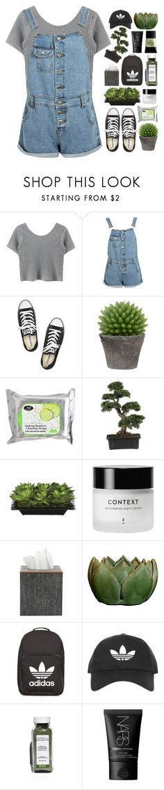 """""""and a great day it was ♡"""" by xo-nichole ❤ liked on Polyvore featuring Boohoo, Converse, Broste Copenhagen, Lux-Art Silks, Pigeon & Poodle, adidas, NARS Cosmetics and Smashbox"""
