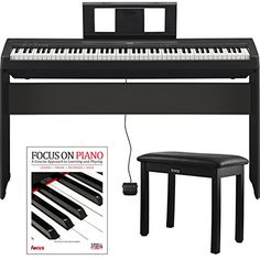Yamaha P458 88-Key has GHS weighted action it's heavier in the low end and lighter in the high end just like an acoustic piano. Advanced Wave Memory Stereo Sampling recreates natural instrument soun...