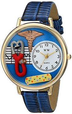 Whimsical Watches Unisex G0620059 Nurse 2 Analog Display Japanese Quartz Royal Blue Watch - http://www.artistic-watches.com/2016/05/16/whimsical-watches-unisex-g0620059-nurse-2-analog-display-japanese-quartz-royal-blue-watch/
