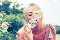 blonde, bubbles, colorful nature, cool, cute