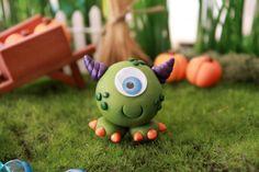 Polímero arcilla lindo monstruo - miniatura Monster - Halloween Monster - terrario accesorios - jardín de hadas - miniatura Jardín - Jardín de Gnome