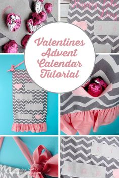 Valentine's Day Advent Calendar Tutorial | via Make It and Love It