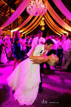 Use bright lights to give your #wedding #reception illumination.